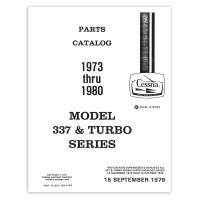 P607-12   CESSNA 337 AND TURBO SERIES PARTS CATALOG 1973-80