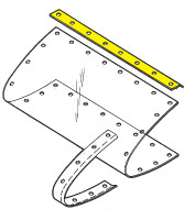 U14787-003   UNIVAIR LANDING LIGHT LENS ATTACHING STRIP - FITS PIPER
