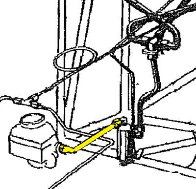 108 6221101 Stinson Fuel Hose Assembly