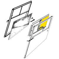 STINSON DOOR AFT WINDOW ASSEMBLY - RIGHT