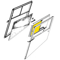 STINSON RIGHT DOOR FORWARD WINDOW - SN 1990 TO 3499