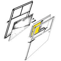 108-3001211-58   STINSON FORWARD WINDOW - GLASS ONLY