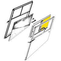 108-3001211-64   STINSON AFT WINDOW - GLASS ONLY