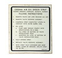 -0442145-1   CESSNA AIR OIL SHOCK STRUT PLACARD
