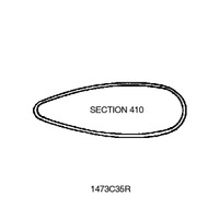 1473C35R   STREAMLINE TUBE - SECTION 410 - 138 INCHES