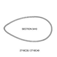 2718C49   STREAMLINE TUBE - SECTION 3410 - 119 INCHES