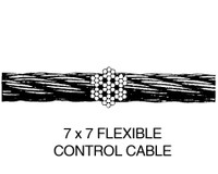 1/16-7X7G   FLEXIBLE 7X7 CONTROL CABLE - GALVANIZED - 1/16 INCH
