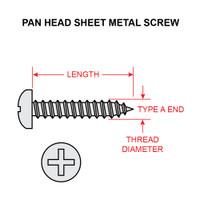 4X1/4-PRA-SS   SCREW - PAN TYPE A RECESSED