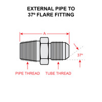 2021-4-8S   EXTERNAL PIPE TO 37 DEGREE FLARE FITTING