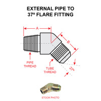 2023-6-8S   EXTERNAL PIPE TO 37 DEGREE FLARE FITTING