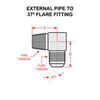 2024-4-8S   EXTERNAL PIPE TO 37 DEGREE FLARE FITTING