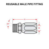 4412-4-6S   REUSABLE MALE PIPE FITTING