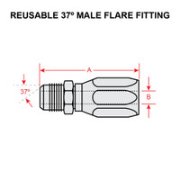 4414-6   37 DEGREE MALE FLARE FITTING