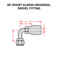 190296-4S   90 DEGREE ELBOW UNIVERSAL SWIVEL FITTING