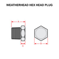 3152X2   WEATHERHEAD HEX HEAD PIPE PLUG