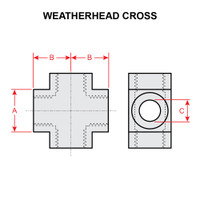 3950X4   WEATHERHEAD CROSS