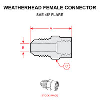 46X3   WEATHERHEAD FEMALE CONNECTOR