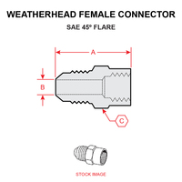 46X4X4   WEATHERHEAD FEMALE CONNECTOR