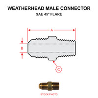 48X4   WEATHERHEAD MALE CONNECTOR