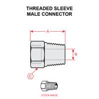 6200X6   WEATHERHEAD THREADED SLEEVE MALE CONNECTOR