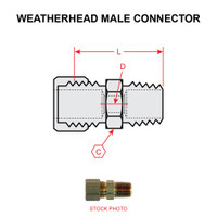 68X8X4   WEATHERHEAD MALE CONNECTOR