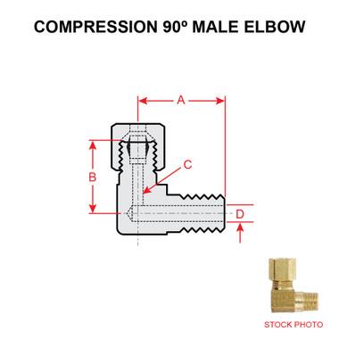 69X2 WEATHERHEAD COMPRESSION 90 DEGREE MALE ELBOW