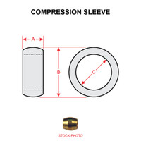 60X6   WEATHERHEAD COMPRESSION SLEEVE