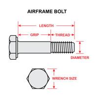 AN4-12A   AIRFRAME BOLT - 1/4 X 1-9/32 INCH