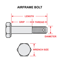 AN4-15   AIRFRAME BOLT - 1/4 X 1-21/32 INCH