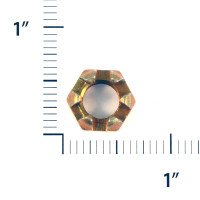 AN310-6   CASTLE NUT - FITS 3/8 INCH BOLT