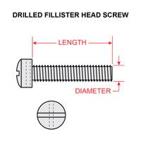 AN501A10-12   FILLISTER HEAD SCREW - DRILLED