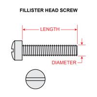 AN500-6-24   FILLISTER HEAD SCREW - NC