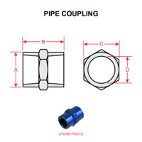 AN910-2D   PIPE COUPLING - ALUMINUM