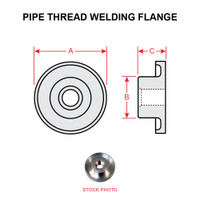 AN867-6   PIPE THREAD WELDING FLANGE