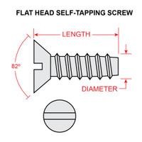 AN531-6-8   FLAT HEAD SELF TAPPING SCREW