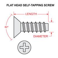 AN531-6R10   FLAT HEAD SELF TAPPING SCREW