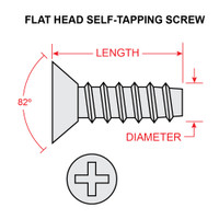 AN531-6R4   FLAT HEAD SELF TAPPING SCREW