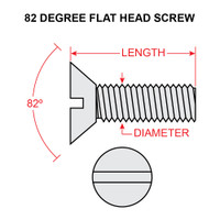 AN510-416-8   FLAT HEAD SCREW - NF