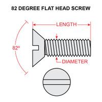 AN510-6-8   FLAT HEAD SCREW - NF