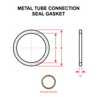 AN901-8A   METAL TUBE CONNECTION SEAL GASKET