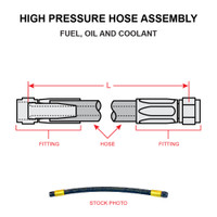 AN6264-4-16.5   HIGH PRESSURE HOSE ASSEMBLY