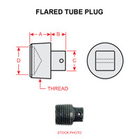 MS20913-1D   SQUARE HEAD PIPE THREAD PLUG