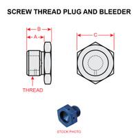AN814-3D   SCREW THREAD PLUG AND BLEEDER