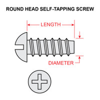 AN530-6R10   ROUND HEAD SELF-TAPPING SCREW