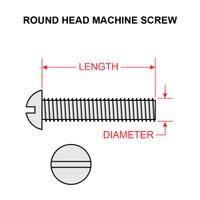 AN520-8-6   ROUND HEAD SCREW - NF