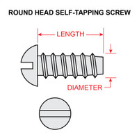 AN530-8-8   ROUND HEAD SELF-TAPPING SCREW