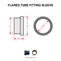 AN819-4D   FLARED TUBE FITTING SLEEVE