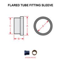 AN819-4   FLARED TUBE FITTING SLEEVE