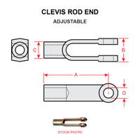 MS35812-1   CLEVIS ROD END