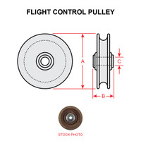 MS20220-2   FLIGHT CONTROL PULLEY
